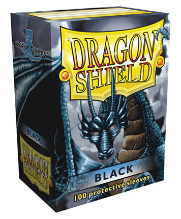 Protectores Dragon Shield - Negro (x100)